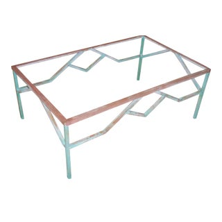Architectural Brass Coffee Table Base