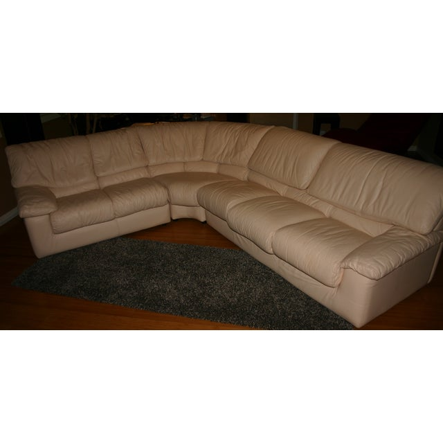 Image of Roche Bobois Leather Sectional