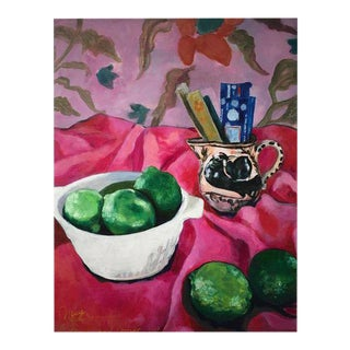 "Neicy Frey ""Incense & Limes"" Original Still Life Painting"