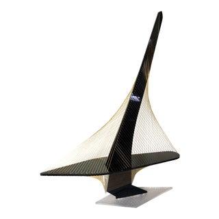 Large Vintage Lucite String Art Sailboat