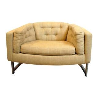 Milo Baughman 1970's Barrel Back Club Chair