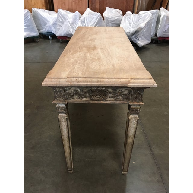 John Nelson Italian Console with Limestone Top - Image 3 of 6