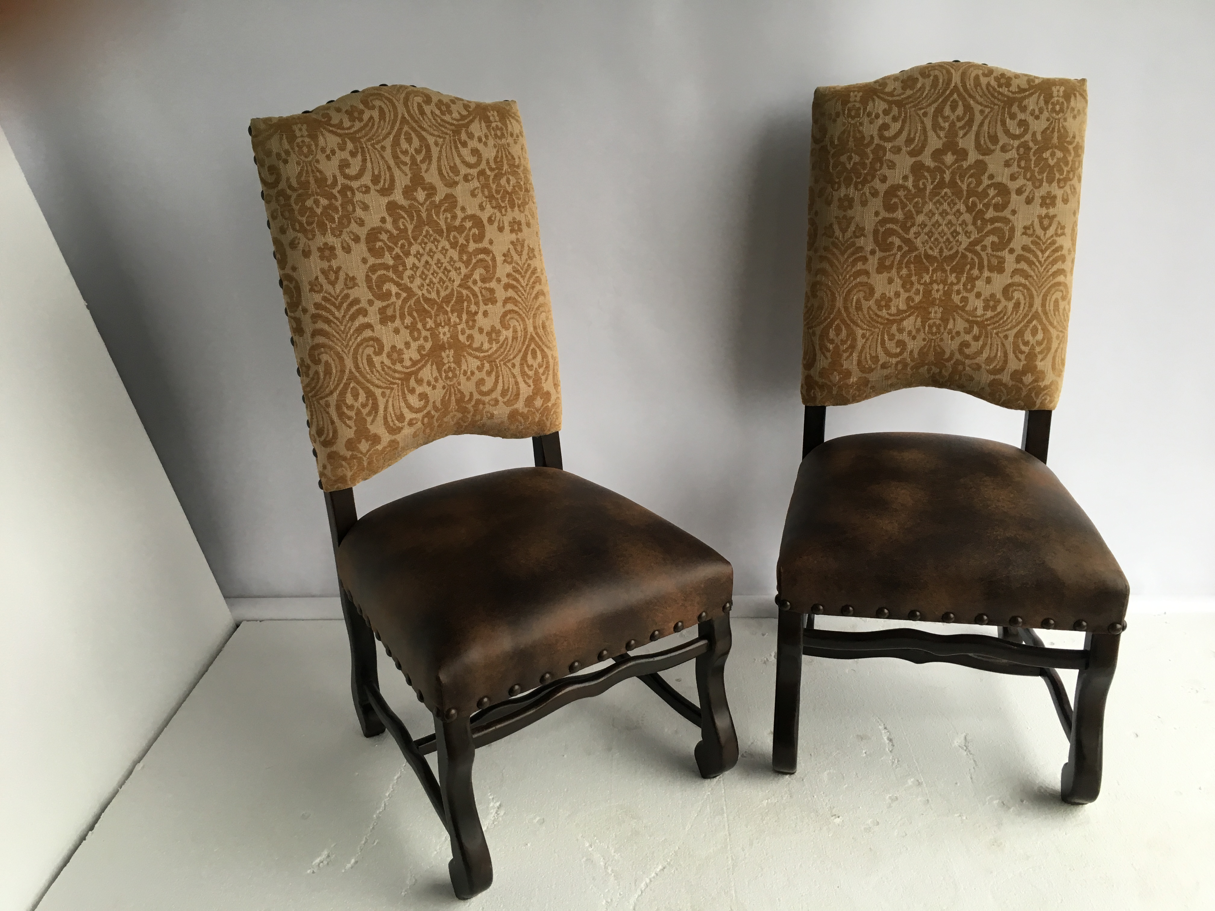 Traditional Textured Chenille Side Chairs A Pair Chairish