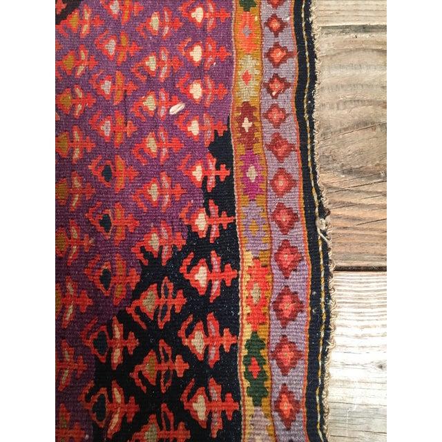 "Image of Vintage Red & Purple Senneh Kilim - 3'4"" X 4'5"""