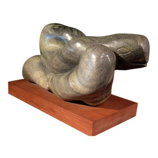 Carved Serpentine Marble Snake Sculpture by Charles Umlauf