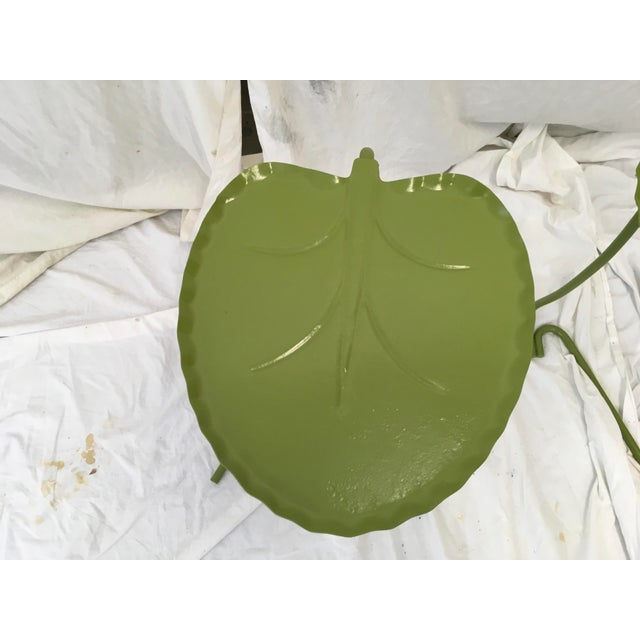 Salterini Green Lily Pad Tables, S/2 - Image 5 of 10