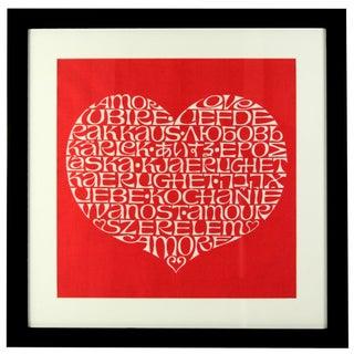 Framed International Heart by Alexander Girard