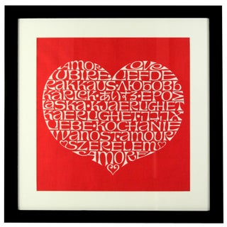 Framed International Heart by Alexander Girard