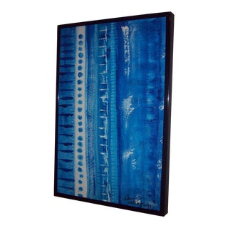 """""""Blue Musicale"""" Original Mixed Media Painting by Dawn Walling"""