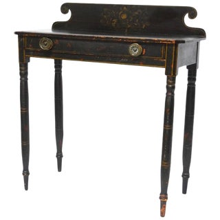 Hitchcock Style Painted Work Table or Desk