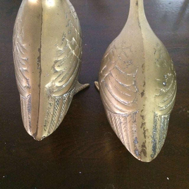 Image of Large Brass Ducks - A Pair