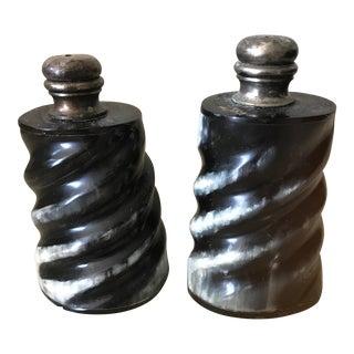 Horn Salt & Pepper Shakers - A Pair