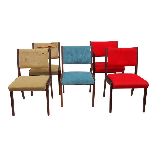 Risom American Modern Dining Chairs - Set of 8 - Image 1 of 4