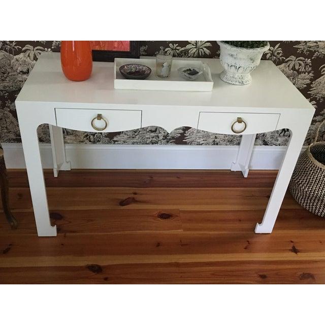 Bungalow 5 Jordan White Console/Desk - Image 5 of 8