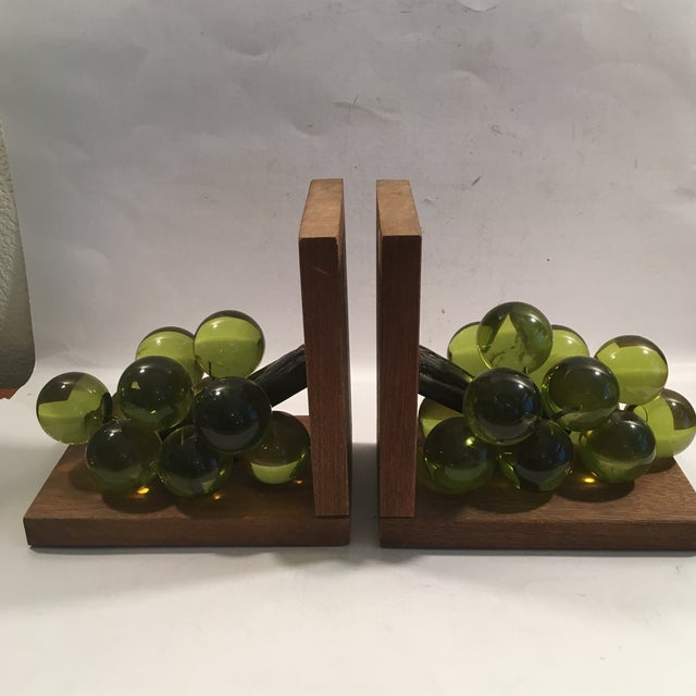 Vintage Lucite Grape Bookends - A Pair - Image 2 of 5