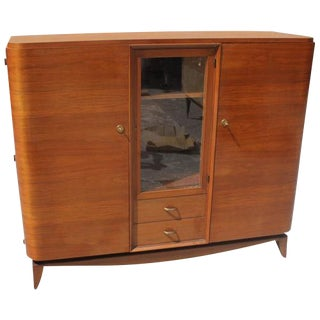 1 940s French Art Deco Solid Mahogany Maxime Old Bookcase