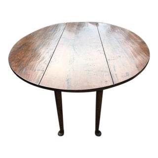 George III Burnished Walnut Drop Leaf Dining Table
