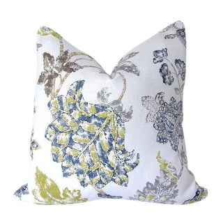 Braemore Alexander Blue Floral Custom Pillow Cover