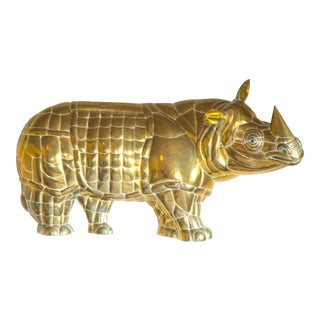 Bustamante Brass Wall Rhinoceros