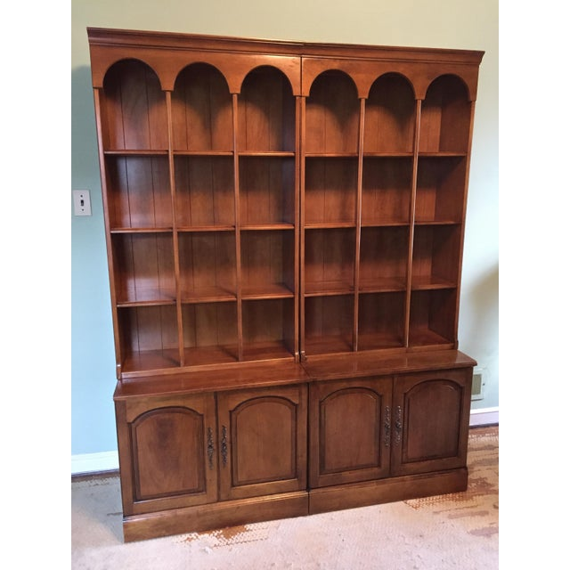 Early American Bookshelves With Storage Cabinets - Set of 3 - Image 2 of 7