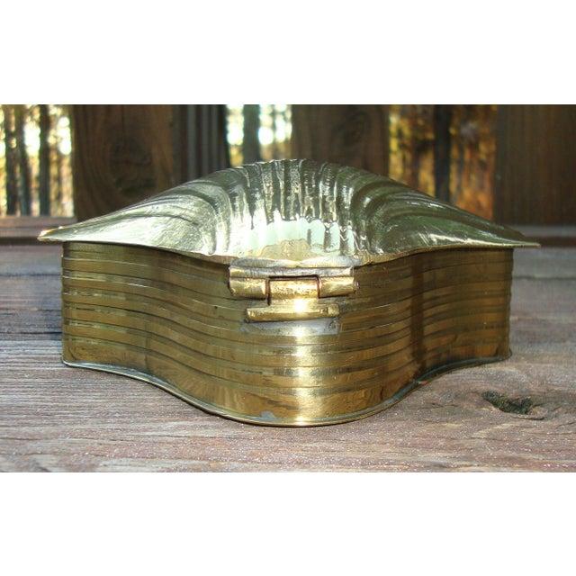 Art Deco Brass Seashell Candy Box - Image 4 of 7