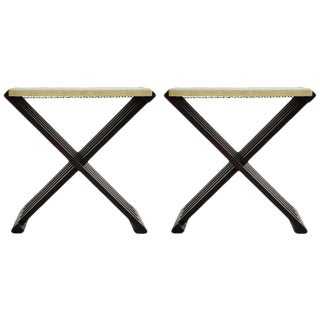Pair of Edward Wormley Campaign Tables