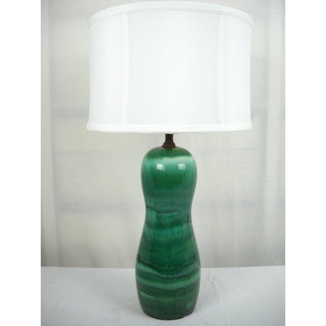 1960s Mid-Century Drip Glaze Lamp - Image 2 of 7