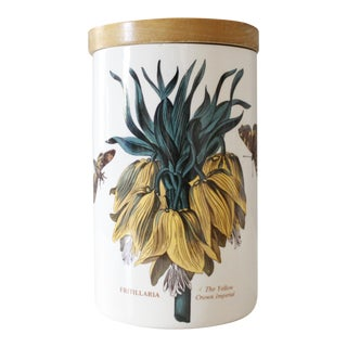 Vintage Portmeirion The Botanic Garden Yellow Crown Imperial Jar Canister Ceramic