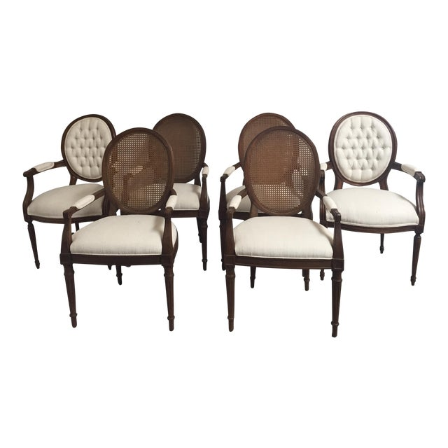 Louis XVI Style Dining Chairs- Set of 6 - Image 1 of 11