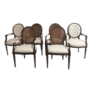 Louis XVI Style Dining Chairs- Set of 6