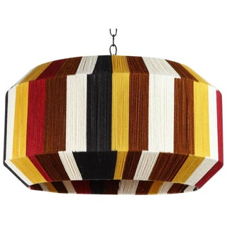 Custom Large Sculptural Hand-Dyed String Pendant