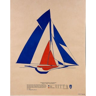 Vintage America's Cup Poster, 1977