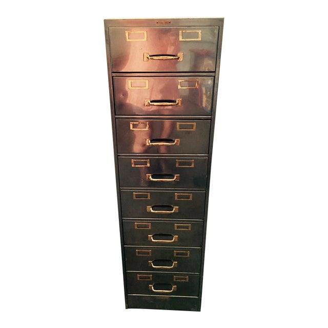 Vintage Polished Modern Metal Steelcase 8-Drawer File Cabinet - Image 1 of 8