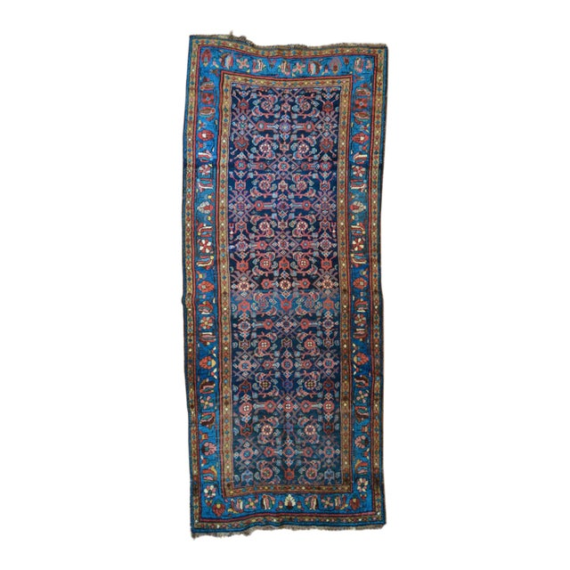 Antique Persian Hand Woven Runner- 3′10″ × 9′7″ - Image 1 of 11