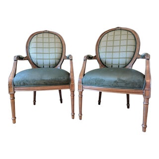 Louis IV Fauteuil Chairs - A Pair
