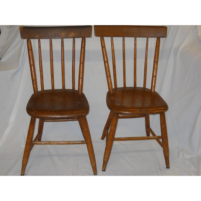 Antique Traditional Wooden Chairs - A Pair - Image 2 of 6