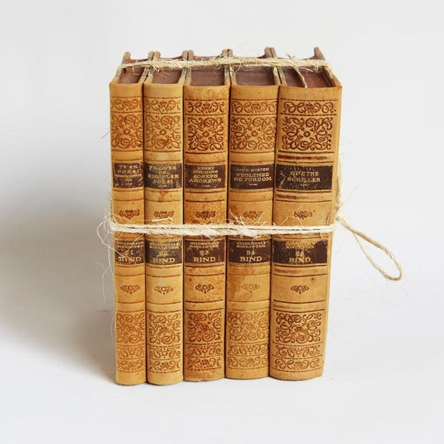 Vintage Leather Bound Book Bundle - Image 2 of 4