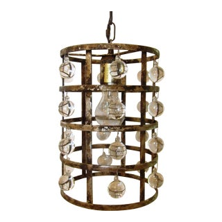 Arhaus La Cage Silver Clay Finish Pendant Lamp