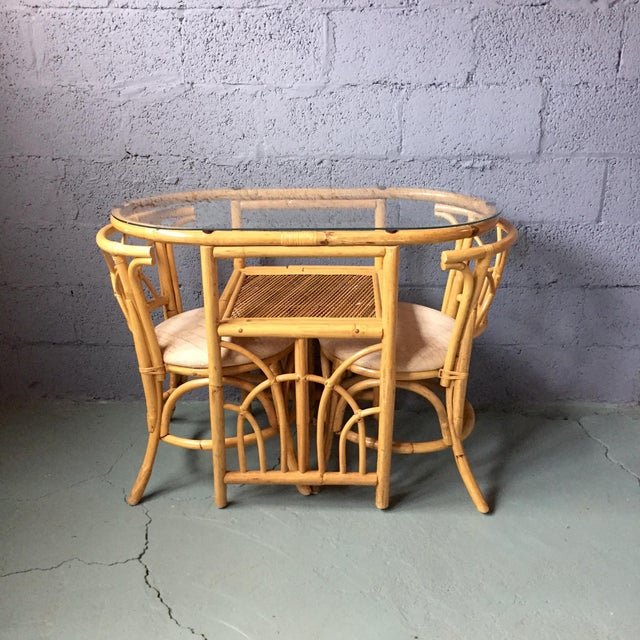 Vintage 1980s Bamboo Dining Set Chairish