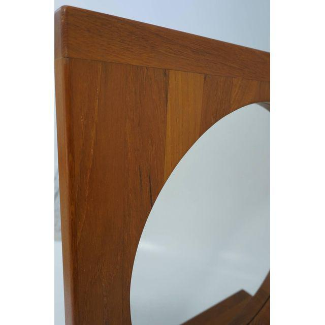 Danish Teak Table Mirror with Shelf - Image 2 of 7