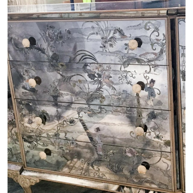 1950s Mirrored Chinoiserie Credenza - Image 8 of 10