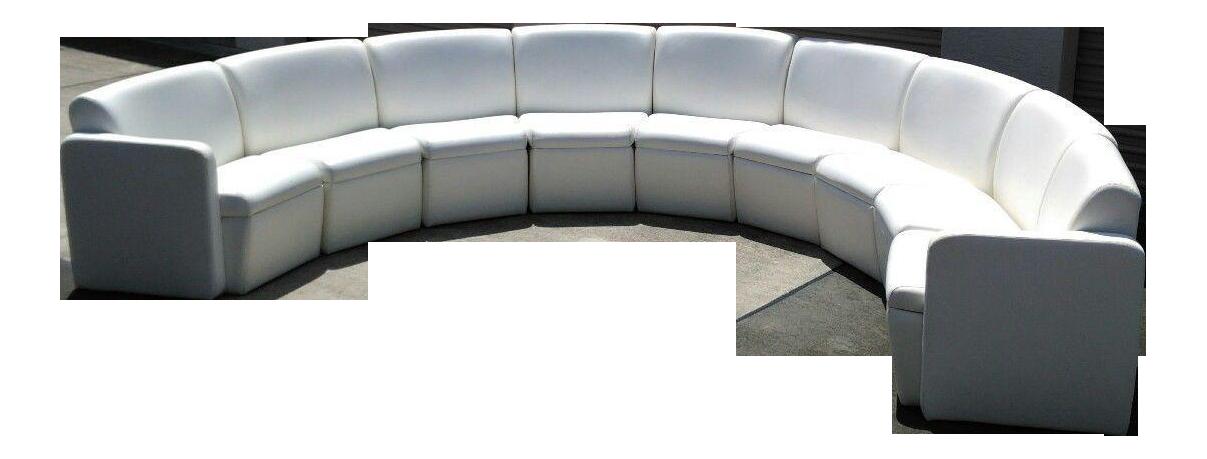 modern semi circular modular sofa sectional chairish