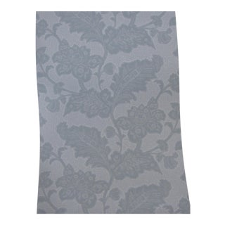 Schumacher Wallpaper Williamsburg 'Brush Everard Damask' in Aqua 4 Double Rolls