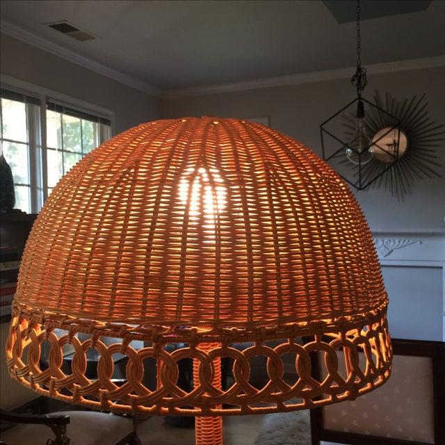 Bohemian Wicker Floor Lamp