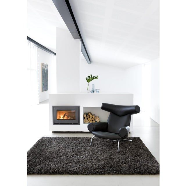 "Dark Gray and Charcoal Shag Rug - 5'4 ""x7'8'' - Image 2 of 6"