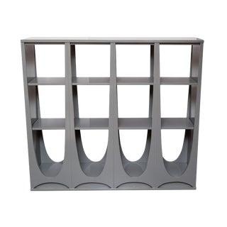 Broyhill Brasilla Grey Lacquer Bookcase
