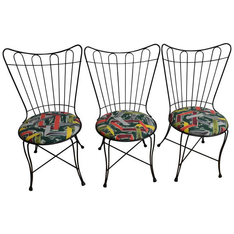 salterini vintage patio chairs set of 3 - Vintage Patio Furniture