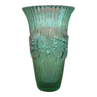 German Green Crystal Vase