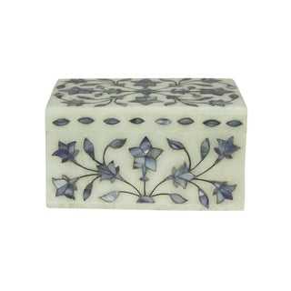 Blue Inlaid Jewelry Box