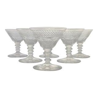 Vintage Crystal Aperitif Stemmed Glassware - Set of 6
